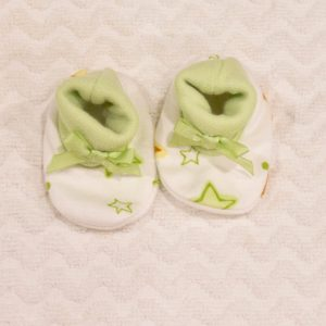 LIME GREEN STAR BOOTIES